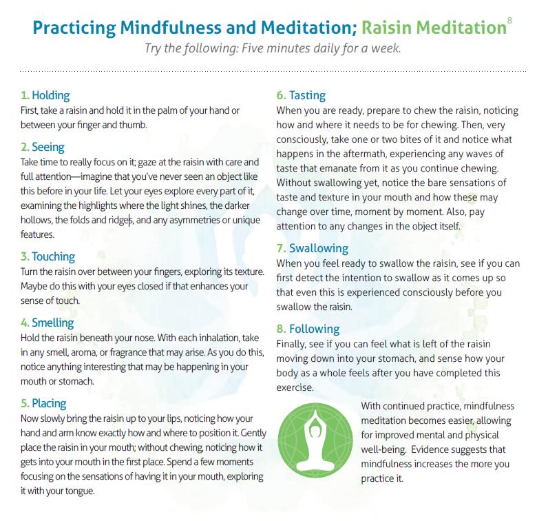 Raisin meditation